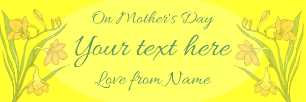 Best+Mum+Personalised+Mothers+Day+Banner+ - design template - 101