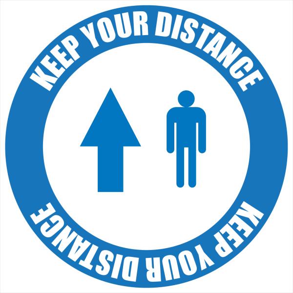 Social_Distancing_Floor_Graphic_Directional - design template - 1010