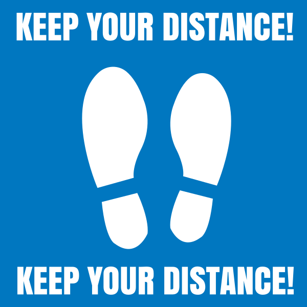 Square_keep_your_distance - design template - 1011