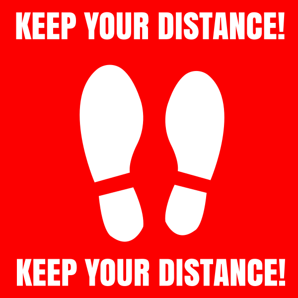Square_Keep_your_distance_red - design template - 1012