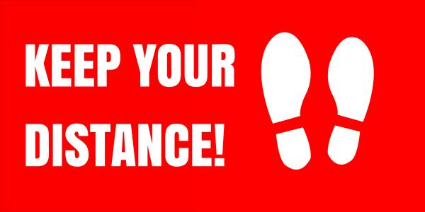 rectangular_keep_your_distance - design template - 1017