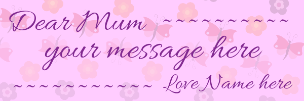 Best+Mum+Personalised+Mothers+Day+Banner+ - design template - 103