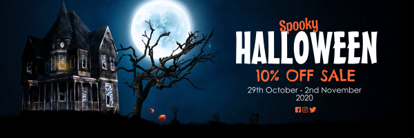 Halloween_Spooky_Sale_Banner - design template - 1039