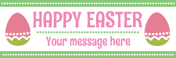 Personalised+Easter+Banner+ - design template - 108