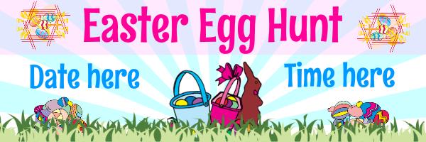 Personalised+Easter+Egg+Hunt+Banne - design template - 109