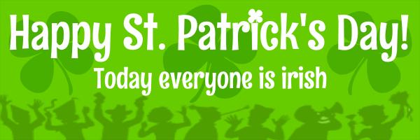 Personalised+St+Patricks+Celebration+Banner - design template - 116
