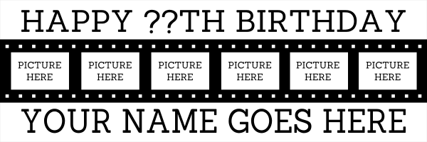 Personalised+Photo+Reel+Birthday+Banner - design template - 122