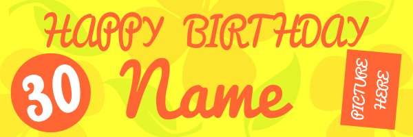 Personalised+30th+Celebration+Birthday+Banner - design template - 124
