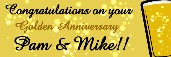 Personalised+Golden+Celebration+Anniversary+Banner+ - design template - 131