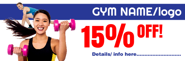 Personalised+Gym+Offer+Banner+ - design template - 136