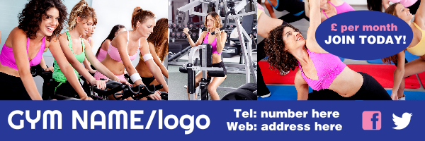 Personalised+Gym+Banner+%22Join+Today%21%22 - design template - 138