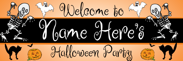Personalised+Fancy+Dress+Halloween+Banner+ - design template - 140