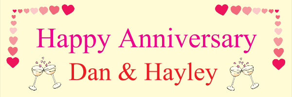 Personalised+Celebration+Anniversary+Banner+ - design template - 145