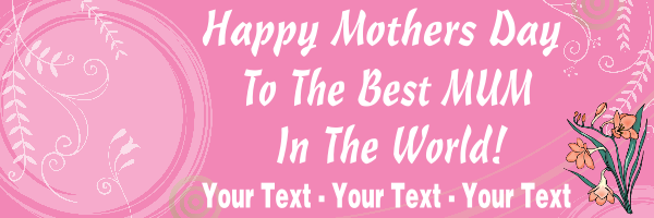 Best+Mum+Personalised+Mothers+Day+Banner+ - design template - 156