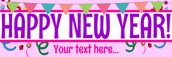 Personalised+New+Year+Banner - design template - 158