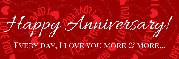 happy anniversary banner template