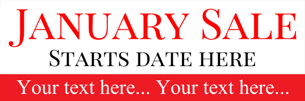 Personalised+January+Sale+Banner - design template - 171