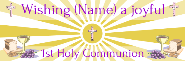 Personalised+1st+Holy+Communion+Banner+ - design template - 173