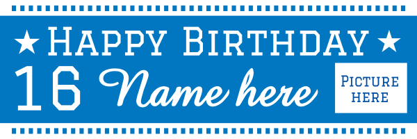 Personalised+Celebration+Birthday+Banner - design template - 18
