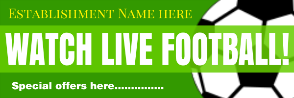 Personalised+Live+Football+Banner+ - design template - 184