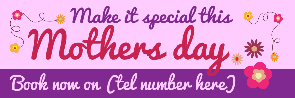Make+It+Special+-+Mothers+Day+Banner - design template - 189