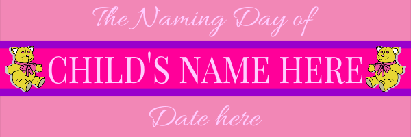 Personalised+Naming+Day+Banner - design template - 197