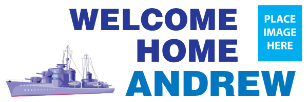 Personalised+Navy+Welcome+Home+Banner+ - design template - 198