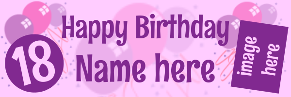 Personalised+Celebration+Birthday+Banner - design template - 209
