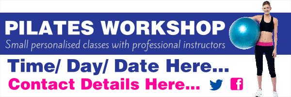 Personalised+Pilates+Workshop+Banner - design template - 211