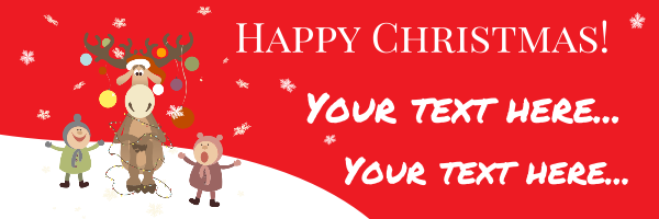 Personalised+Christmas+Banner - design template - 228