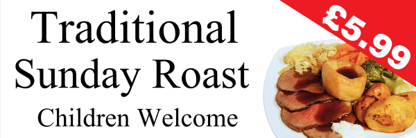 Personalised+Traditional+Sunday+Roast+Banner - design template - 230
