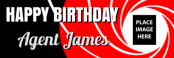 Personalised+Special+Agent+Birthday+Banner - design template - 236