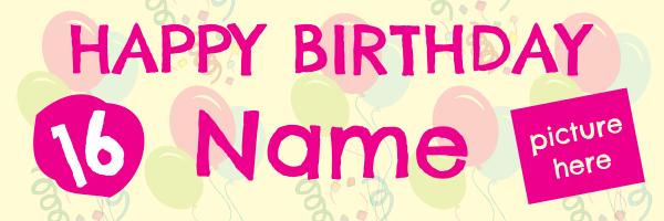 Personalised+Celebration+Birthday+Banner - design template - 239