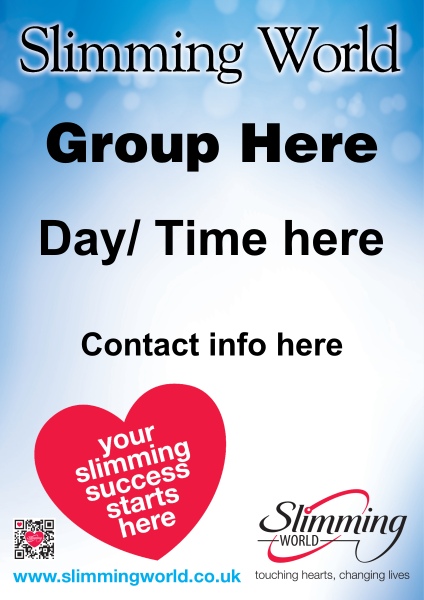 Blue+Slimming+World+Poster - design template - 248