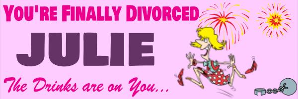 Personalised+Divorce+Celebration+Banner+ - design template - 25