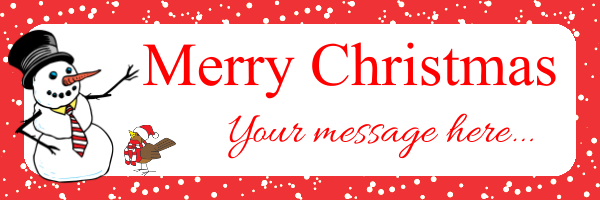 Personalised+Christmas+Banner - design template - 253