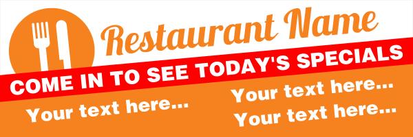 Personalised+Restaurant+Specials+Banner+ - design template - 255