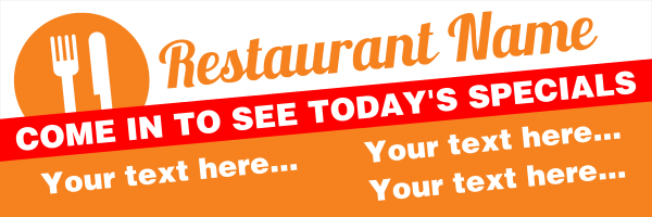 Personalised+Restaurant+Specials+Banner+ - design template - 255