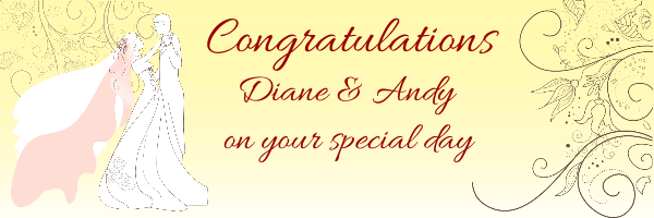 Personalised+%22Congratulations%22+Wedding+Banner+- - design template - 256