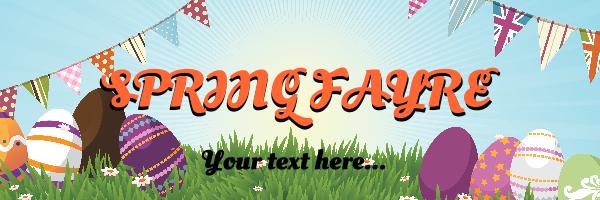 Personalised+Spring+Fayre%2FFair+Easter+Banner+ - design template - 259