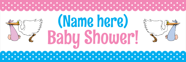 Personalised+Celebration+Baby+Shower+Banner+ - design template - 264