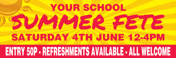 Personalised+School+Summer+Fete+Banner - design template - 265