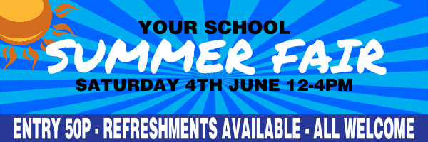 Personalised+School+Summer+Fair+Banner - design template - 266