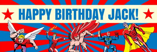 Personalised+Children%27s+Super+Hero+Birthday+Banner - design template - 270