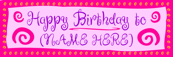 Personalised+Girls+Birthday+Banner - design template - 273