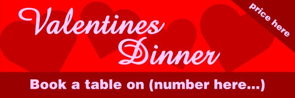 Personalised+Valentines+Dinner+Banner+ - design template - 289