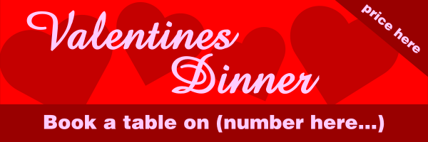 Personalised+Valentines+Dinner+Banner+ - design template - 289