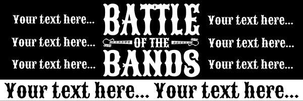 Personalised+Battle+Of+the+Bands+Banner - design template - 29