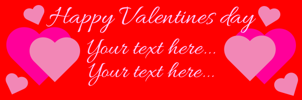 Personalised+Happy+Valentines+Day+Hearts+Banner - design template - 290