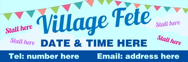 Personalised+Village+Fete+Stall+Banner - design template - 292